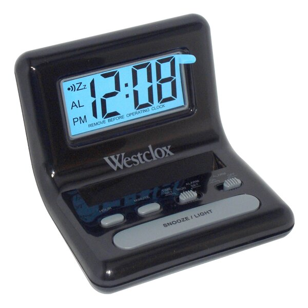 Bedside Digital LCD Alarm Clock by Westclox Clocks