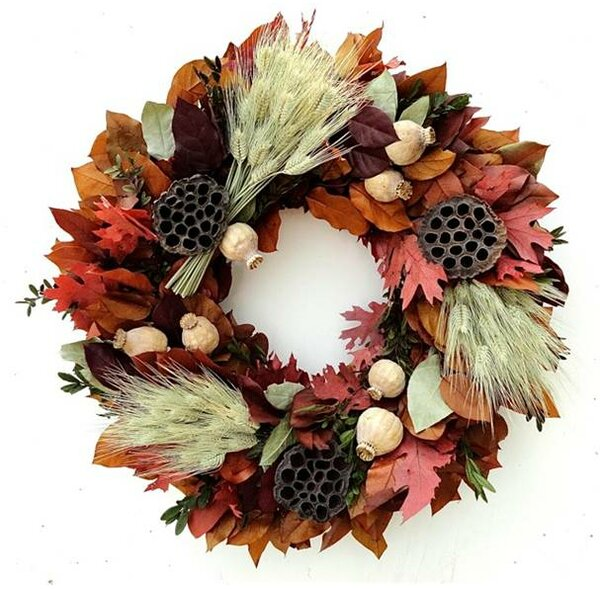 Fall Beauty 22 Wreath by Red Barrel Studio