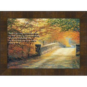 Autumn Bridge by Charles White Framed Painting Print by Hadley House Co