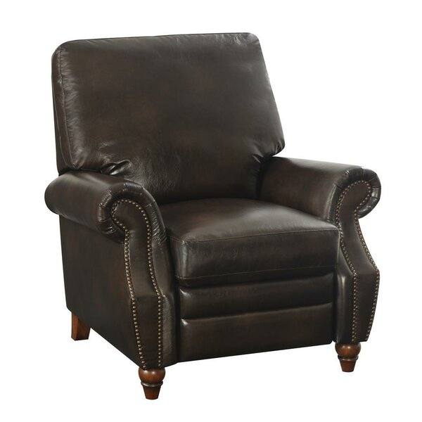 Leetsdale Nailhead Recliner by Alcott Hill