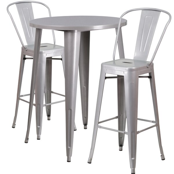 Austell 3 Piece Bar Height Dining Set by Latitude Run