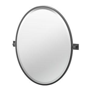 Bathroom Mirror Oval oval bathroom mirrors you'll love | wayfair