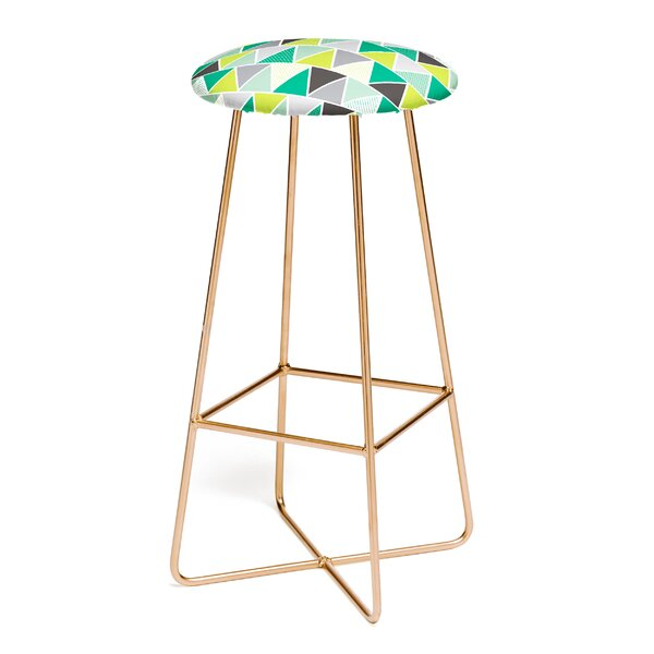 Heather Dutton Emerald Triangulum 30 Bar Stool by East Urban Home