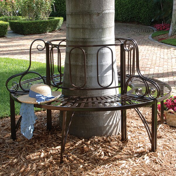 Roundabout Architectural Steel Garden Bench by Design Toscano