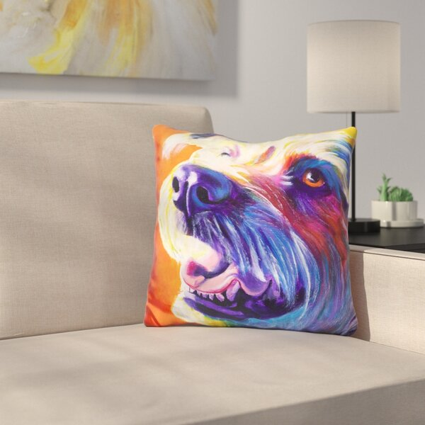 Wire Hair Terrier Penny Throw Pillow by East Urban Home