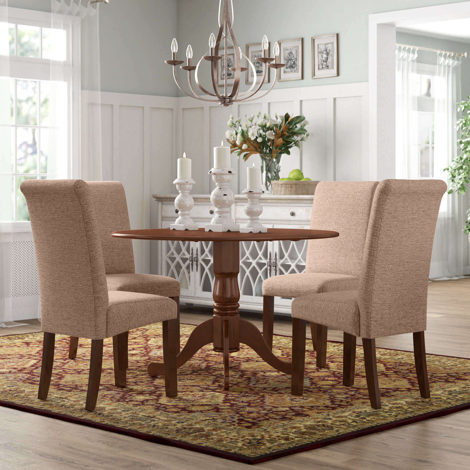 Charlton Home Parise Small Table 5 Piece Drop Leaf Solid Wood Breakfast Nook Dining Set Reviews Wayfair