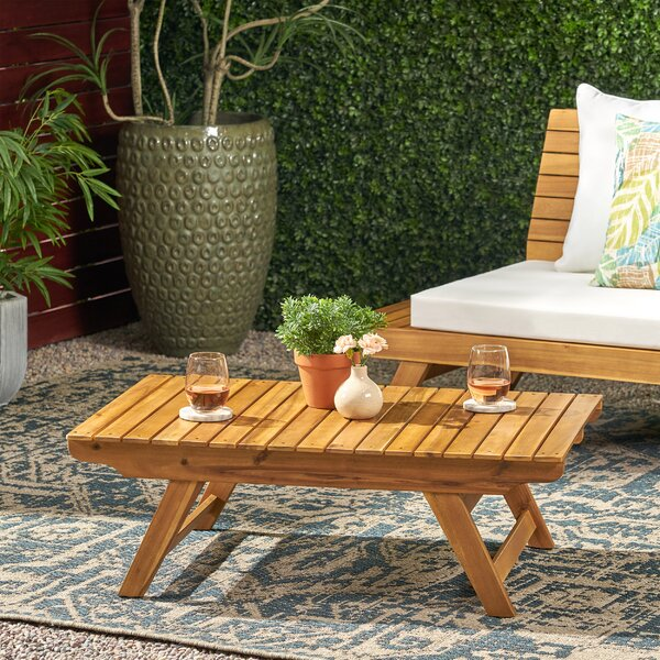 Bullock Outdoor Coffee Table by Longshore Tides