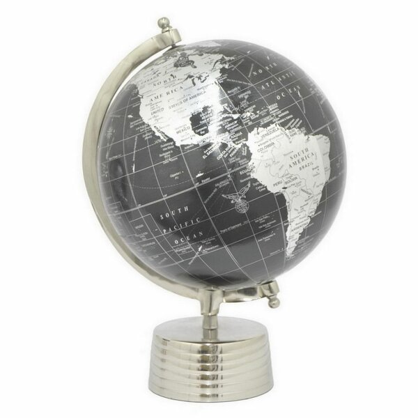 12 Metal Nickel Globe by Orren Ellis
