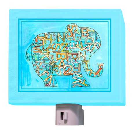 Alphabet Elephant Night Light by Oopsy Daisy