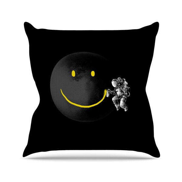 Digital Carbine Make  a Smile Outdoor Throw Pillow by East Urban Home