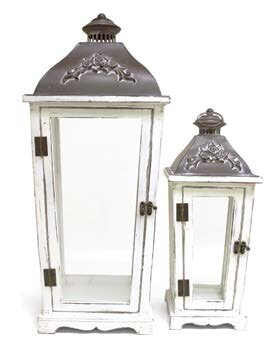 Decorative Metal/Wood Lantern by Canora Grey