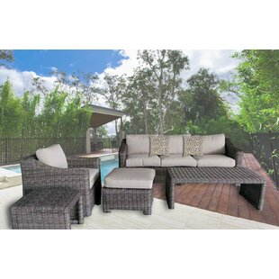 Morley 5 Piece Sofa Set with Cushions By Rosecliff Heights