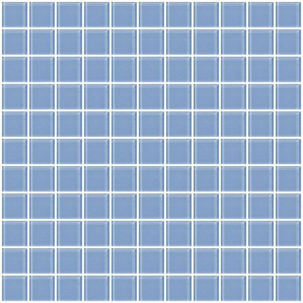 1 x 1 Glass Mosaic Tile in Light Periwinkle Blue by Susan Jablon