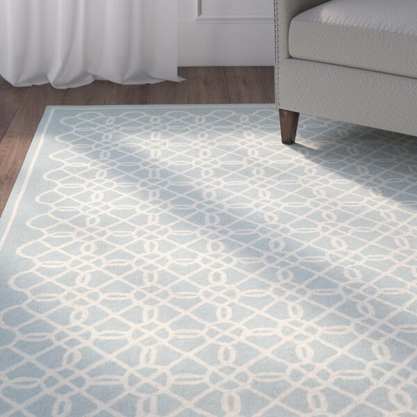 Helena Blue/Ivory Rug by Charlton Home