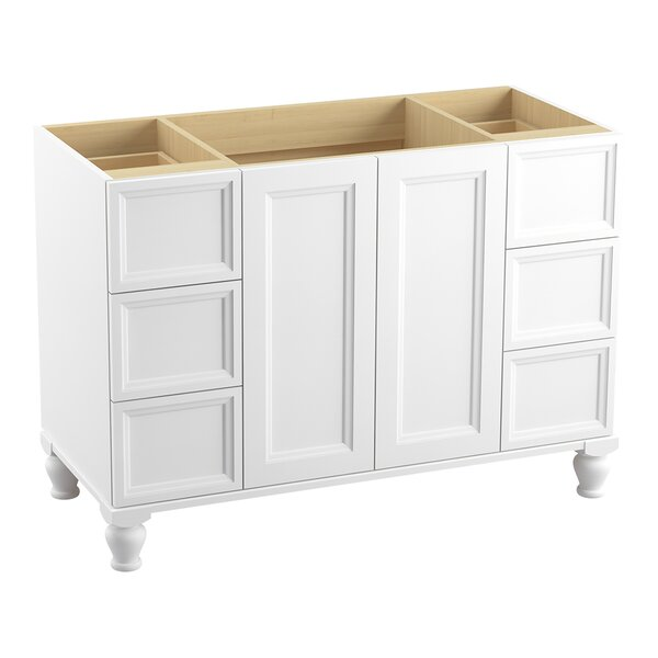 Damask™ 48 Vanity with Furniture Legs, 2 Doors and 6 Drawers, Split Top Drawers by Kohler