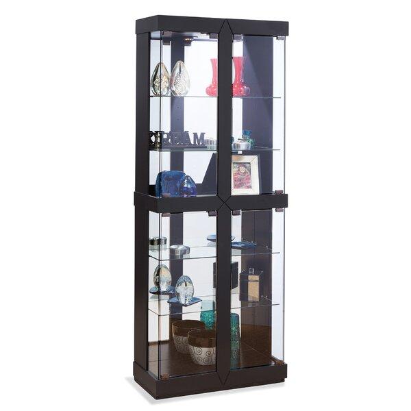 Depriest Lighted Curio Cabinet by Red Barrel Studio Red Barrel Studio