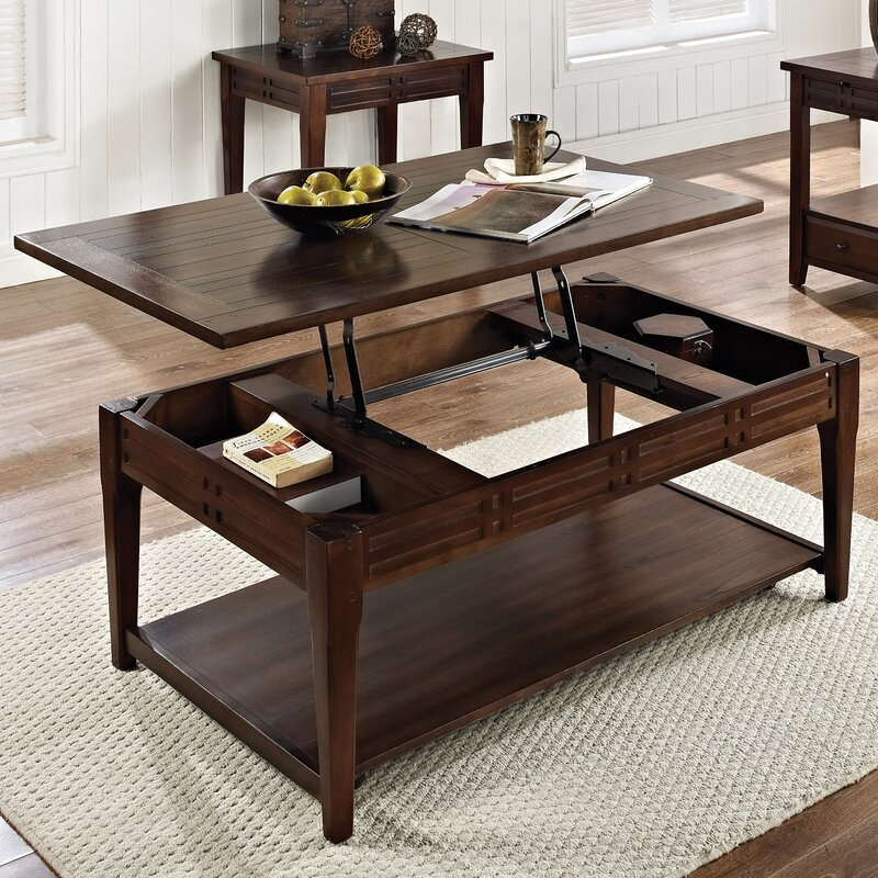 25 Best Collection Of Noguchi Coffee Table Dimensions: World Menagerie Riverside Lift Top Coffee Table & Reviews