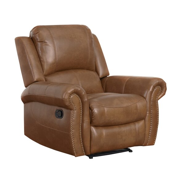 Bitter Root Leather Manual Recliner by Darby Home Co