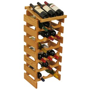 Dakota 21 Bottle Floor Wine Rack by Wooden Mallet