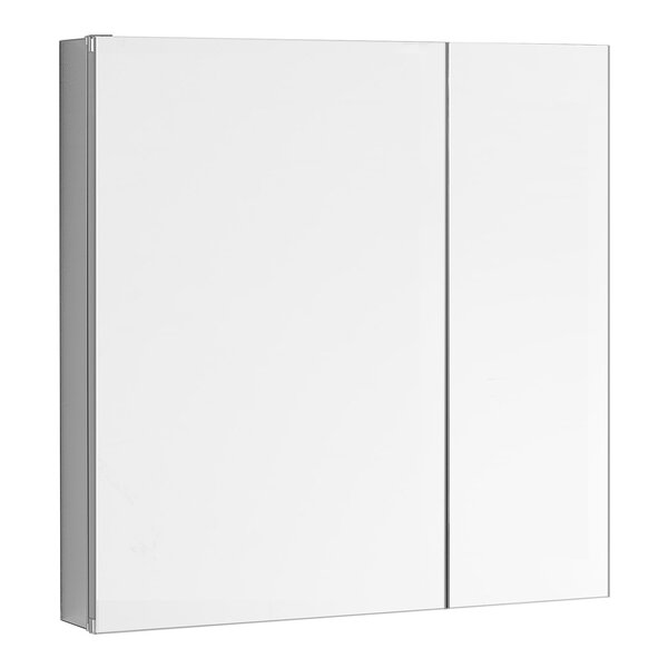 Bulloch 30 x 30 Recessed or Surface Mount Frameless Medicine Cabinet with 3 Adjustable Shelves
