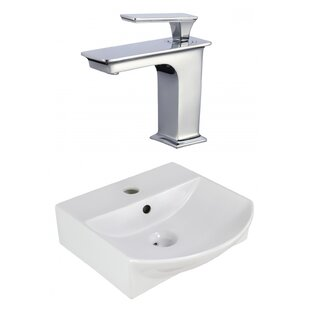 Comparison Ceramic 13.75 Bathroom Sink with Faucet and Overflow By Royal Purple Bath Kitchen