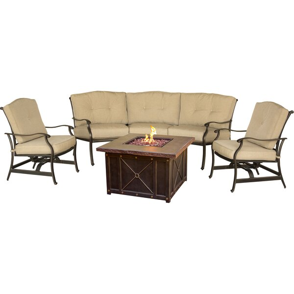Robicheaux Outdoor 4 Piece Sofa Seating Group with Cushions