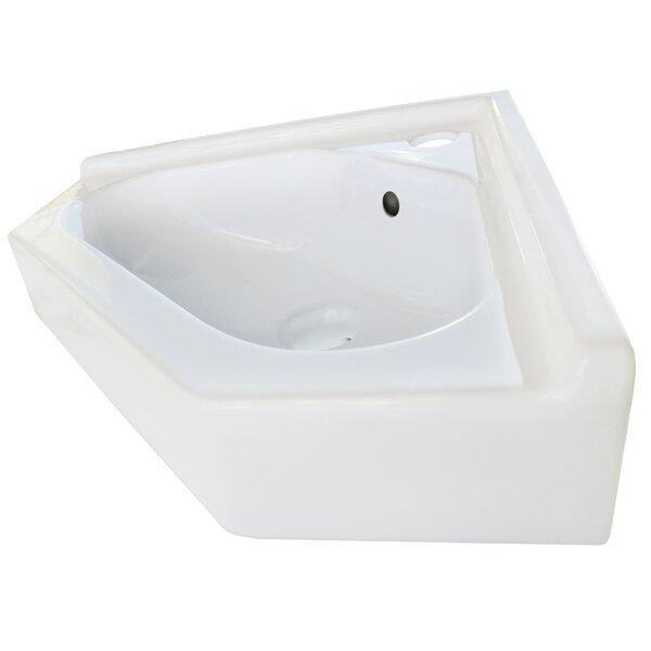 Ceramic Specialty Vessel Batroom Sink with Overflow