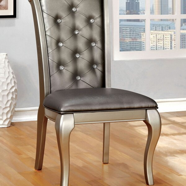 Keyon Upholstered Side Chair In Silver (Set Of 2) By Rosdorf Park