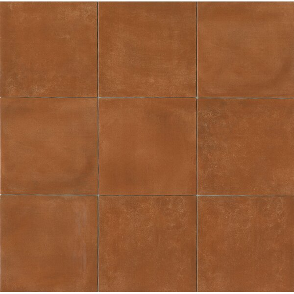 Cotto Nature 14 x 14 Porcelain Field Tile in Glossy Cotto Nature by Bedrosians