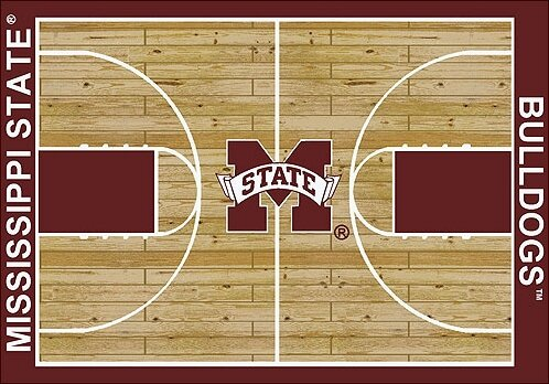NCAA College Home Court Mississippi State Novelty Rug by My Team by Milliken