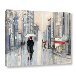 Spring Rain New York Painting Print on Wrapped Canvas by Red Barrel Studio