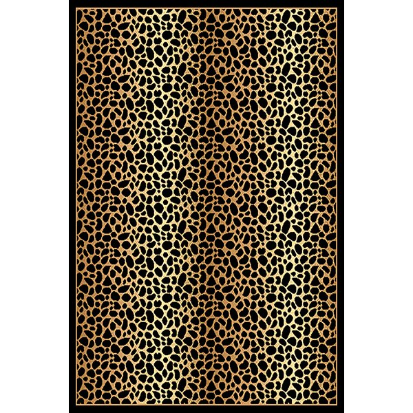 Patchell Black/Brown Area Rug by Bloomsbury Market