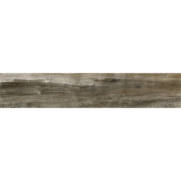 Bowmore 8 x 48 Porcelain Wood Look Tile in Walnut by The Bella Collection