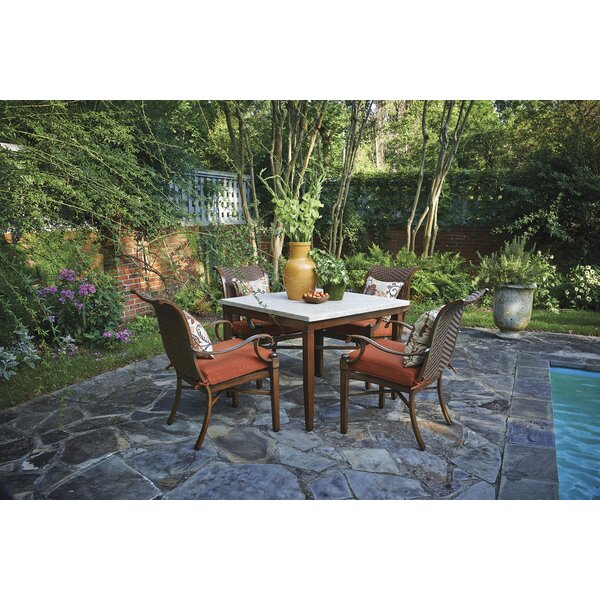 Panama Stationary Patio Dining Chair with Cushion (Set of 2) by Inspired Visions