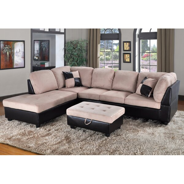 Fearon Sectional with Ottoman by Winston Porter
