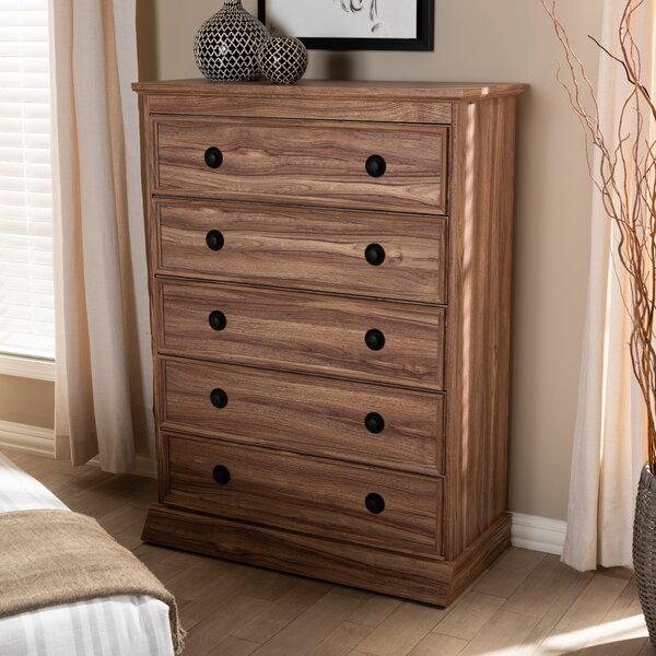 Rossiter 5 Drawer Standard Chest by Millwood Pines