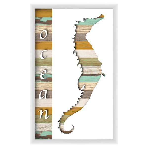 Ocean Seahorse Framed Graphic Art by PTM