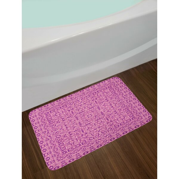 Mauve Abstract Ethnic Bath Rug by East Urban Home