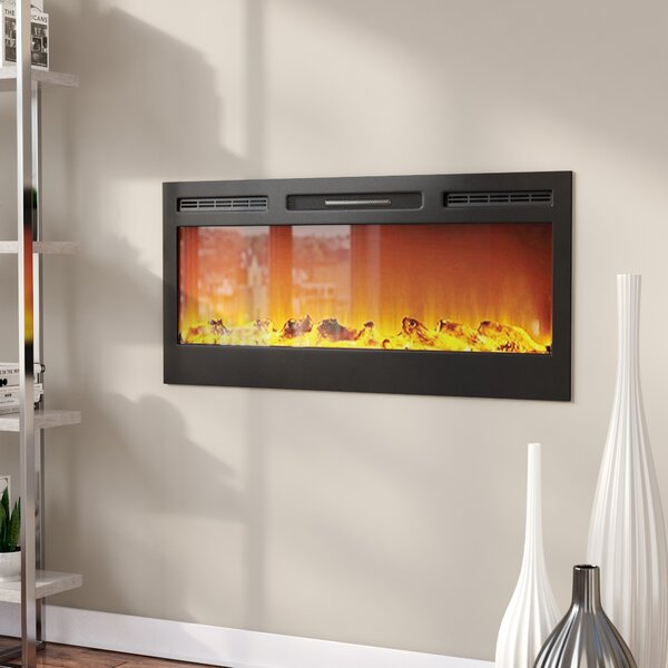 Jemaine Wall Mounted Bio-Ethanol Fireplace by Orren Ellis