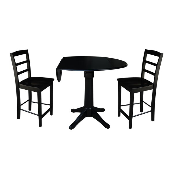Pesina 3 Piece Pub Table Set by Alcott Hill