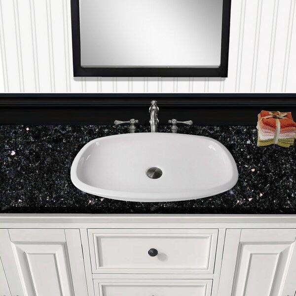 Regatta Portofino Fireclay Oval Vessel Bathroom Sink by Nantucket Sinks