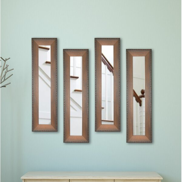 4 Piece Trujillo Panels Mirror Set (Set of 4) by Millwood Pines