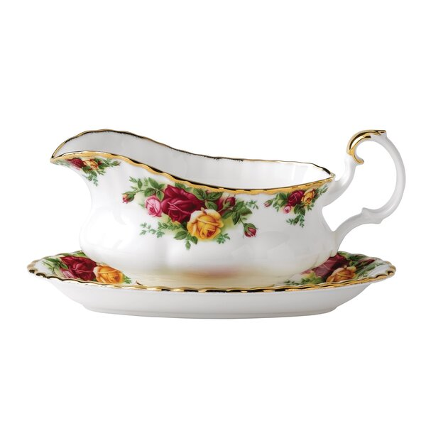 Old Country Roses Gravy Boat Stand by Royal Albert