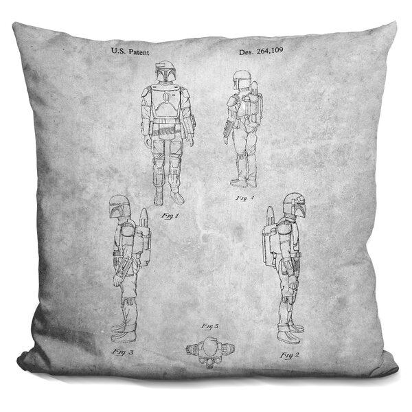 Star Wars Blueprint Throw Pillow by LiLiPi