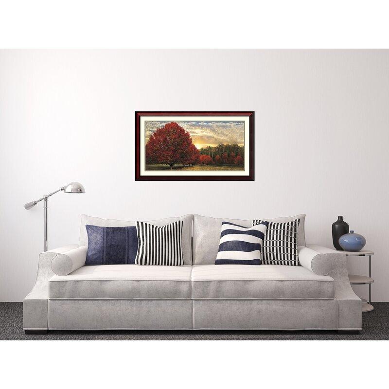Darby Home Co Crimson Trees Framed Wall Art | Wayfair