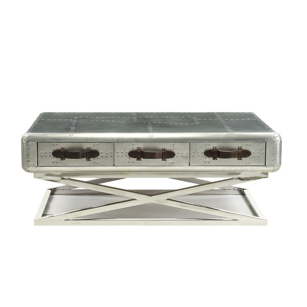 Demarco Cross Legs Coffee Table With Storage By 17 Stories