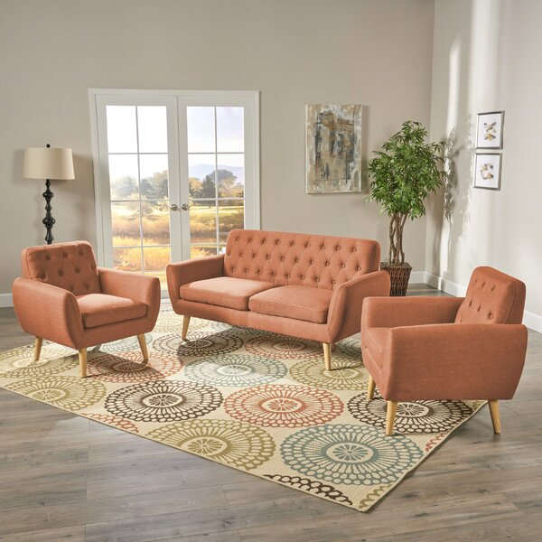 Blocker 3 Piece Living Room Set by George Oliver