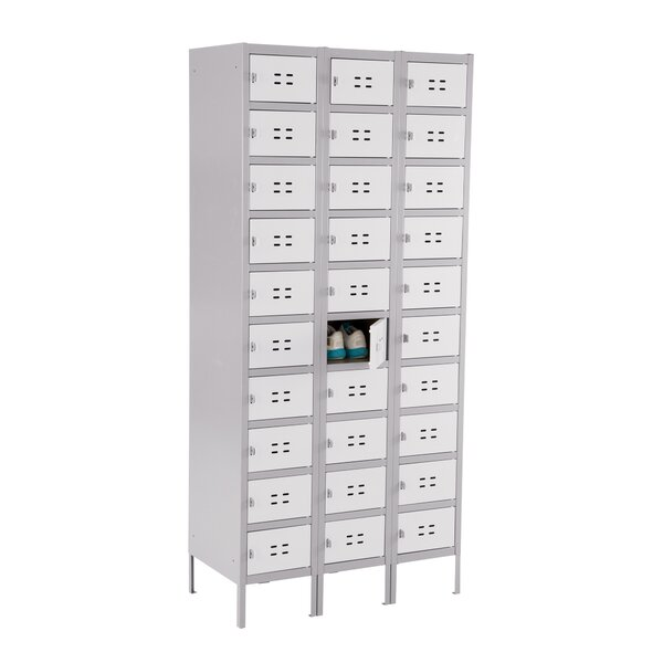 10 Door 3 Wide Storage Locker by Safco Products Company10 Door 3 Wide Storage Locker by Safco Products Company