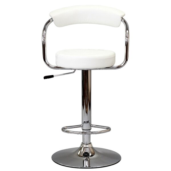Diner Adjustable Height Swivel Bar Stool by Modway
