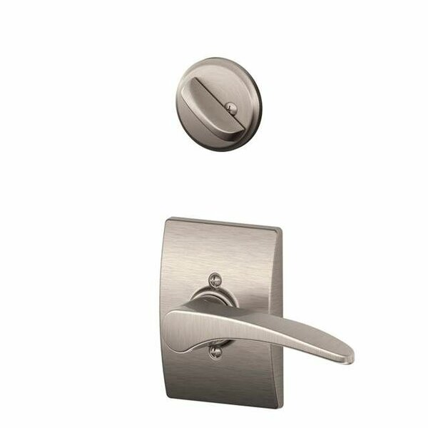 Interior Handleset Manhattan Lever and Interior Single Cylinder Deadbolt Thumbturn with Century Trim by Schlage